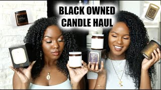 BLACK OWNED CANDLE HAUL!