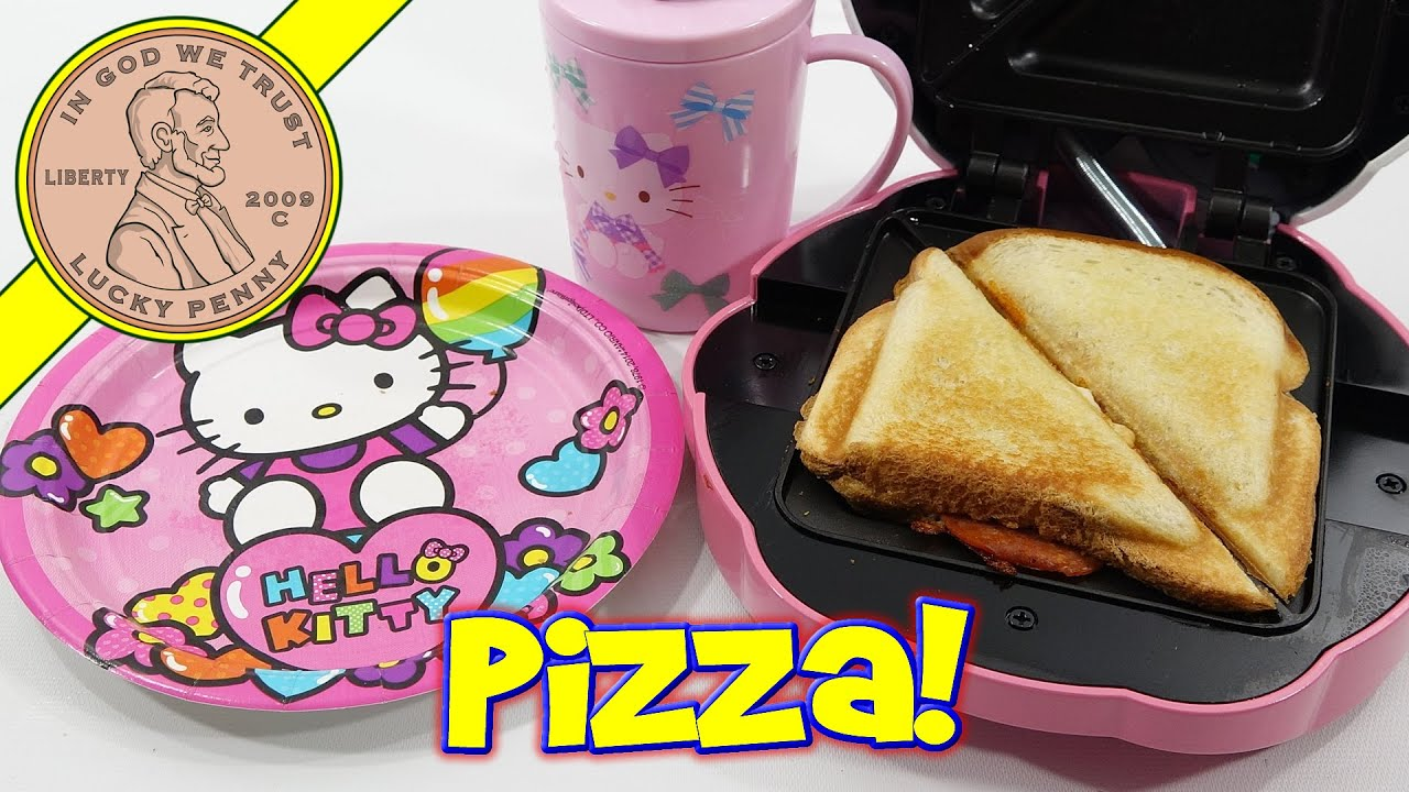 0539e3c5fa Hello Kitty Sandwich Maker Bacon Grilled Cheese   Pizza - Drum Solo ...