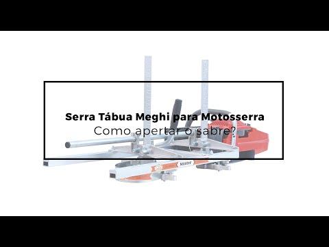 151 - Serra Tábua Meghi para Motosserra - Como fazer o aperto do sabre?