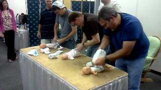 Baby Shower Diaper Change Game