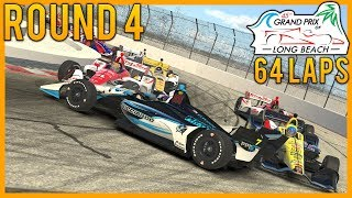 iRacing - IORL IndyCar Series Round 4 of 13 at  Long Beach | 64 Laps