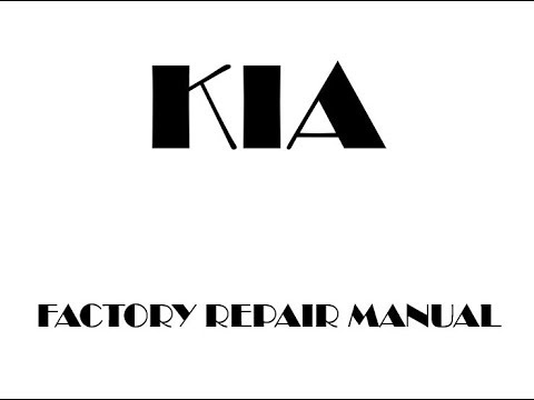 Kia Sportage 2011 2012 2013 2014 2015 2016 repair manual