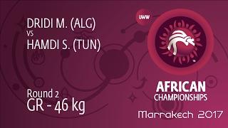 Round 2 GR - 46 kg: S. HAMDI (TUN) df. M. DRIDI (ALG) by TF, 11-2