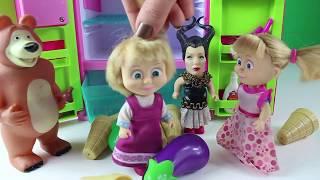 Maşanın Dondurma Partisi Maşa Bir Sürü Dondurma Alıyor Buzdolabına Yerleştiriyor Maşa Çizgi Film