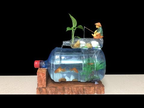 How to make fish tank at home ideas – Diy aquarium of bottle art – Home decoration