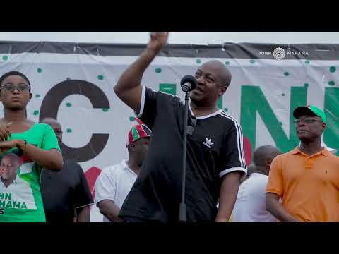 Part 1_ John Mahama speaks at NDC Volta Unity Walk, Aflao.