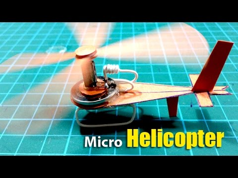 Amazing Smallest Electric Helicopter By Paper Micro Paper