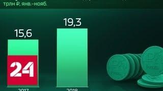 Смотреть видео Россия в цифрах. Сколько налогов поступило в бюджет - Россия 24 онлайн