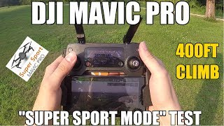 "DJI Mavic Pro Jailbreak ""Super Sport Mode"""