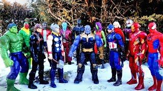 Thanos vs Hulk vs Spiderman vs Iron Man vs Avengers vs Thor vs Captain America - Marvel fight!