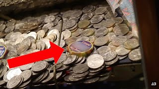 WINNING THE MEGA JACKPOT FROM THE COIN PUSHER!! - ARCADE WINS!
