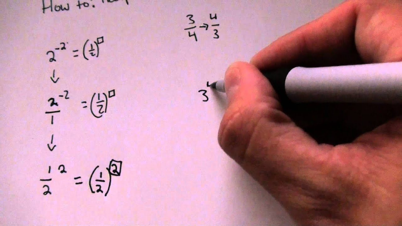 How To Find The Reciprocal Of Exponential Numbers