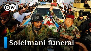 Thousands chant 'death to America' at Soleimani funeral in Baghdad | DW News