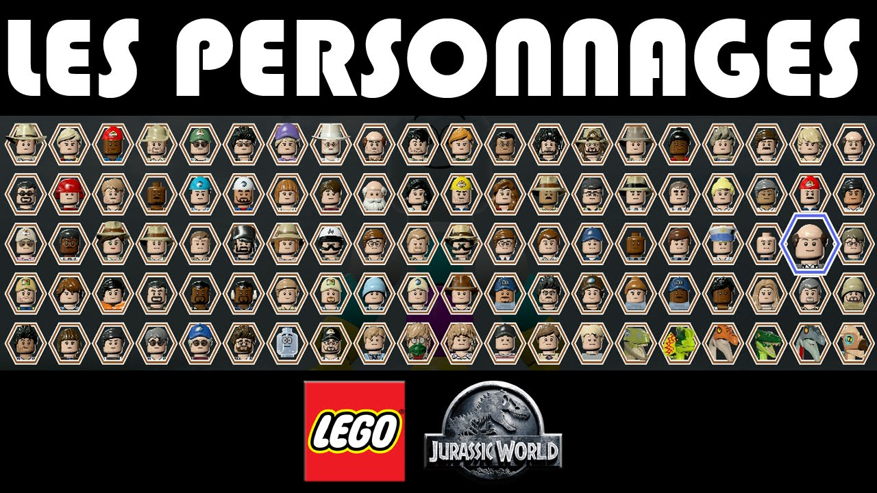 lego jurassic world personnages characters youtube. Black Bedroom Furniture Sets. Home Design Ideas