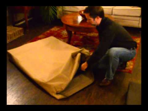 "Dog Beds For Large Dogs - ""Pack-&-Go"" Feature With Easy Breakdown"