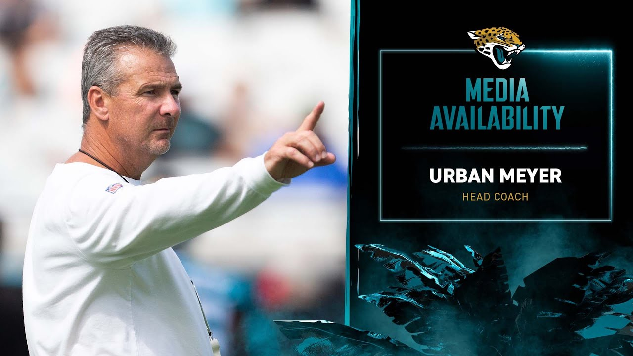 Download HC Urban Meyer meets with media on Wednesday of Week 6 | Jaguars Media Availability