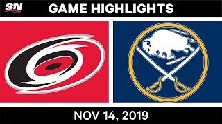 NHL Highlights   Hurricanes vs Sabres – Nov. 14, 2019