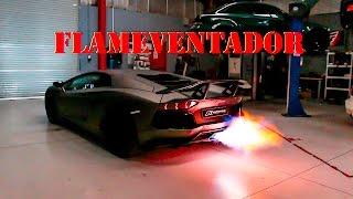 Lamborghini Aventador LP700-4 - Alphamale Performance Exhaust shooting MONSTER Flames - Folge 136