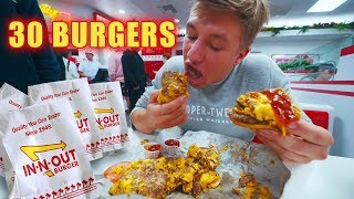 Attempting To Eat 30 Burgers at IN N OUT..