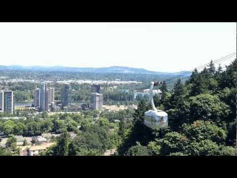 Portland Cityscape from OHSU Hospital & Tramway
