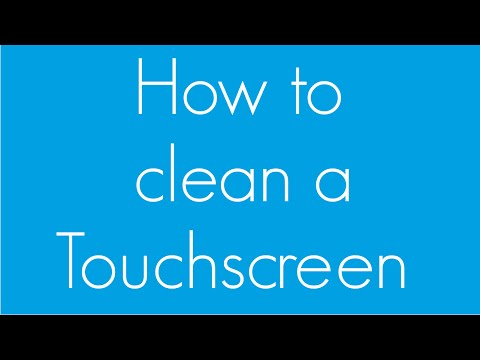 How to clean a touchscreen (easiest way)
