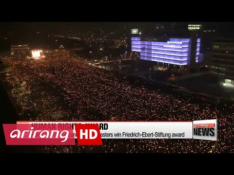 Korea's 10 million candlelight protesters win Friedrich-Ebert-Stiftung award