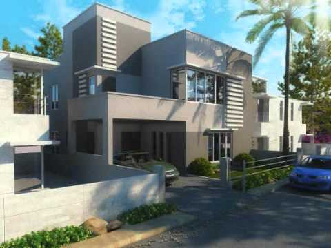 house design plans modern home plans narrow lot house plans YouTube