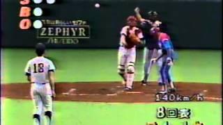 1989 野茂英雄  アマチュア野球 全日本-キューバ 捕手古田