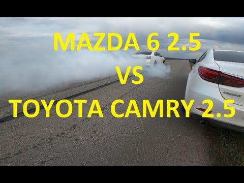 Заезд MAZDA 6 2.5 (192 л.с) VS Toyota Camry 2.5 181 л.с. (прямоток). Жжём резину. РЕВАНШ