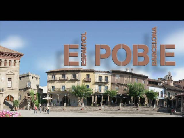 El Poble Espanyol, The Spanish Village, Barcelona, Spain OFFICIAL VIDEO