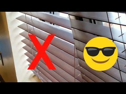 Fast and easy way to clean a set of blinds