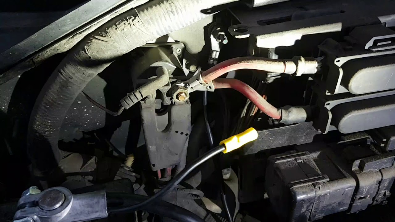 1997 ford f150 starter wiring diagram replacing battery cable in 1997 ford f150 youtube  battery cable in 1997 ford f150