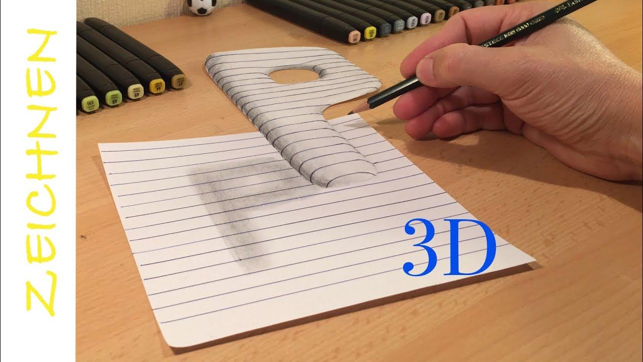 3d zeichnen lernen für anfänger buchstaben p  how to draw