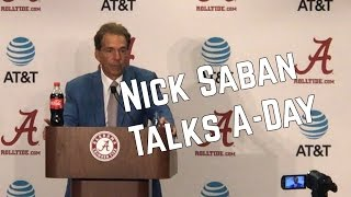 Nick Saban talks spring game