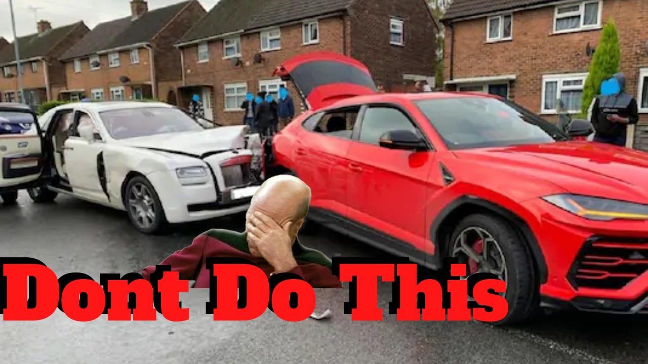 (HIT AND RUN) Rolls Royce Rear Ends Lamborghini Urus and Driver Runs Away