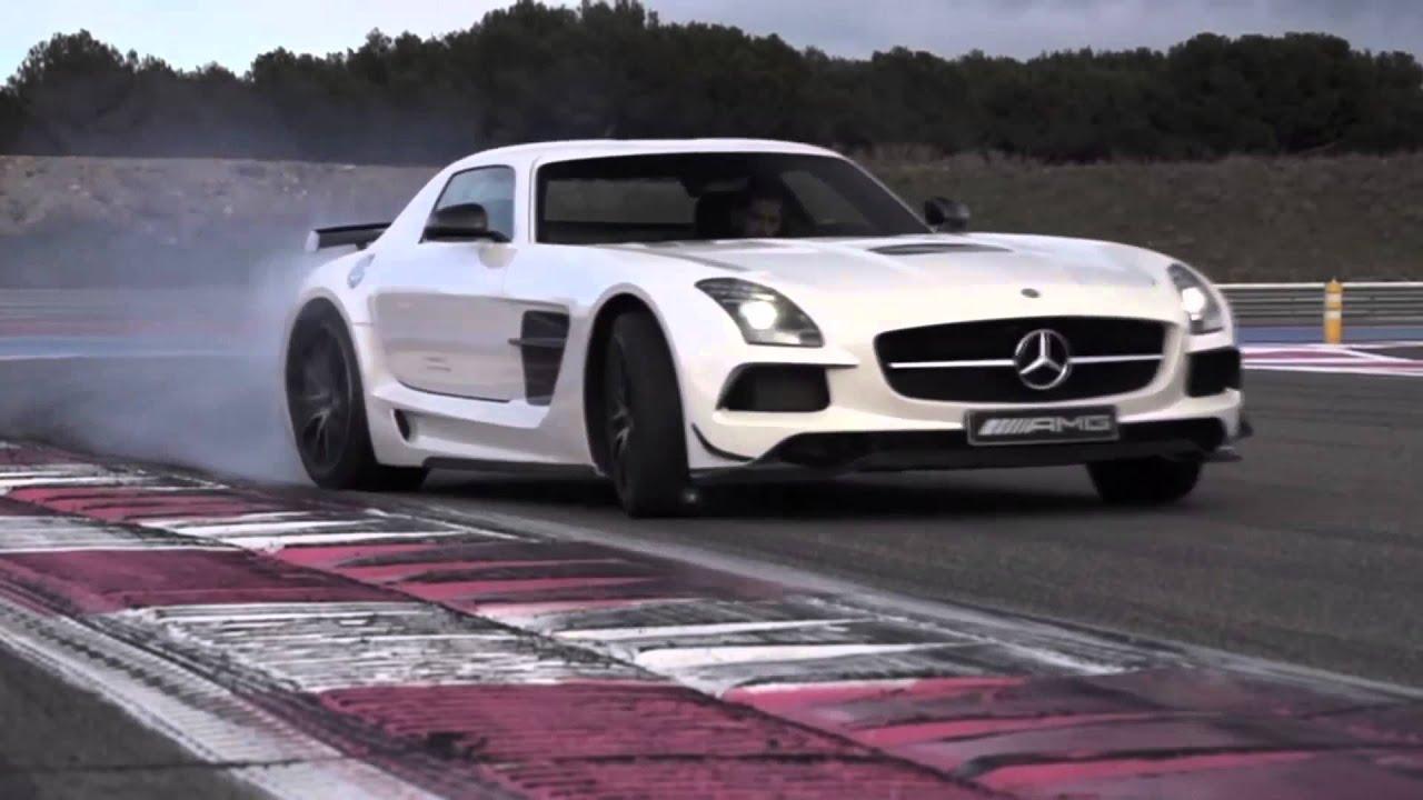 Sls Black Series >> Mercedes-Benz SLS AMG Black Series Drifting - YouTube
