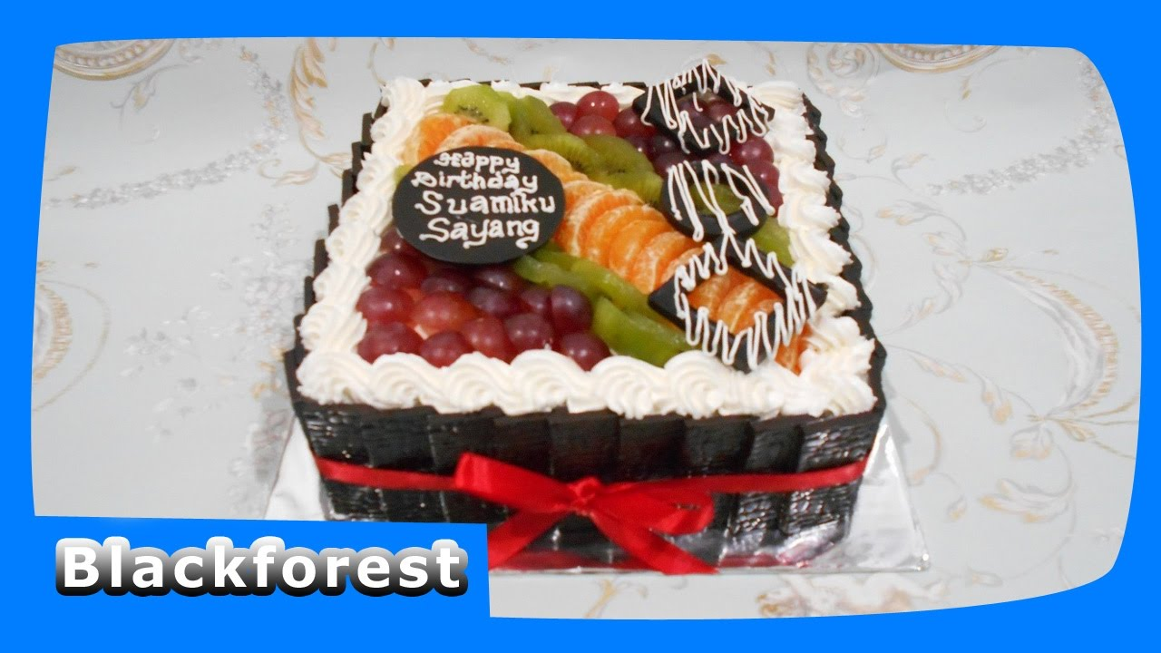 Blackforest Topper Fruits Easy