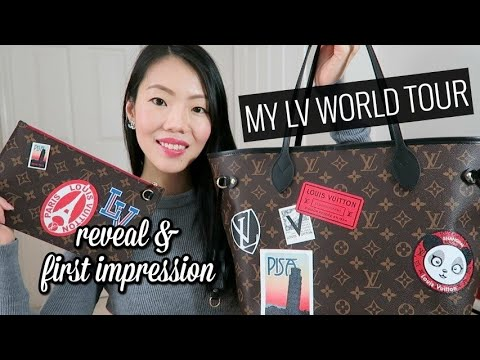 Louis Vuitton Neverfull Mm My Lv World Tour First Impression Review Fashionablyamy Youtube