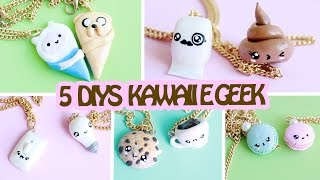 DIY 5 ideias de colar da AMIZADE - Friendship Necklaces Kawaii e Geek