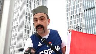 Darko Plavšić sa navijačima pred Srbija - Angola