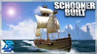 SHIP BUILDING FINISHED, LAUNCHING THE SCHOONER! - Atlas Gameplay Part 11