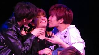 Video [ASTRO in NYC] Eunwoo & JinJin kissing MJ download MP3, 3GP, MP4, WEBM, AVI, FLV Mei 2018