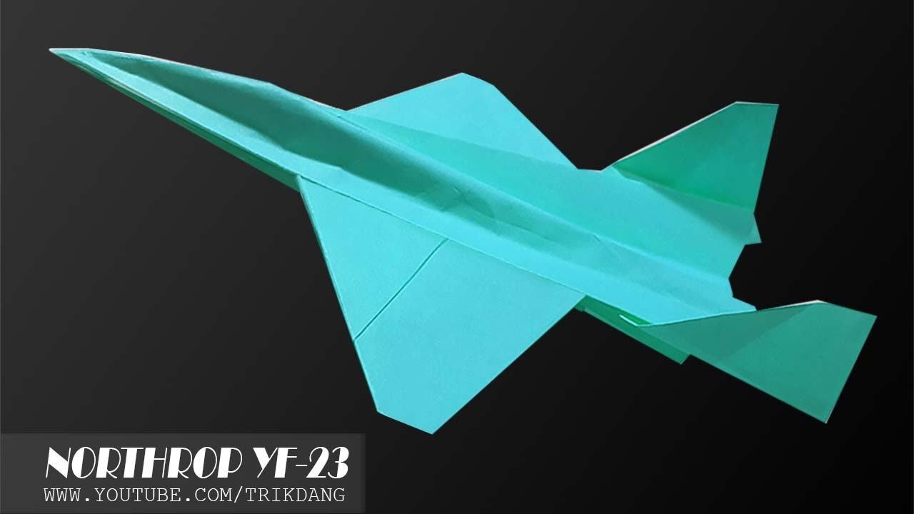 papierflieger selbst basteln papierflugzeug falten beste origami flugzeug yf 23 widow youtube. Black Bedroom Furniture Sets. Home Design Ideas