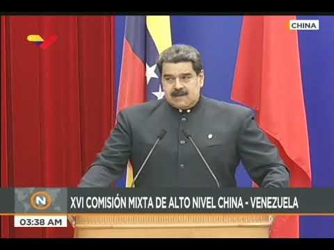 Maduro en China se reúne con la XVI Comisión de Alto Nivel China-Venezuela