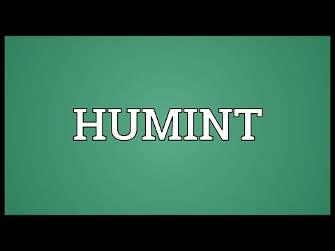 HUMINT Meaning