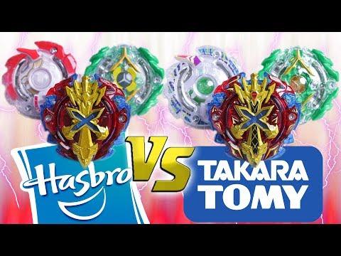 SWORD FLAMES vs SWORD FLAMES | Beyblade Burst Team Battle - HASBRO vs TAKARA TOMY  ベイブレードバースト