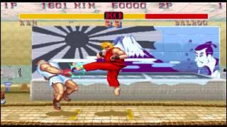 Street fighter 2 CE egg beater hurricane kick quick easy combo example..
