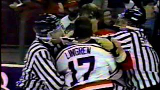 Cale Hulse and Brad Symes vs Steve Lingren and Kelly Harris WHL