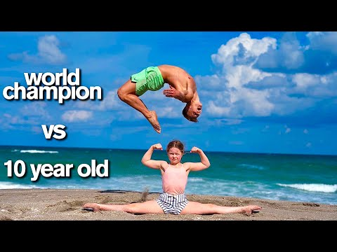KID vs ADULT - Extreme Acro Gymnastics Competition - Jordan Matter