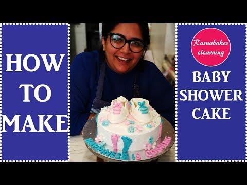 How To Make Baby Shower Cake: Cake Decorating Tutorial
